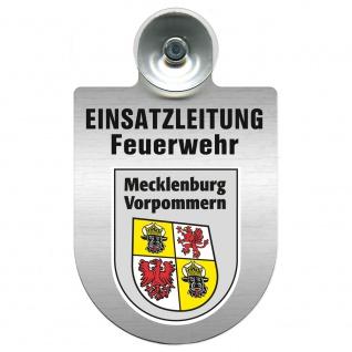 Einsatzschild Windschutzscheibe incl. Saugnapf - Einsatzleitung Feuerwehr - 309476 Region Mecklenburg-Vorpommern