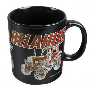 Tasse Kaffeebecher mit Print Traktor Belarus rot 57423