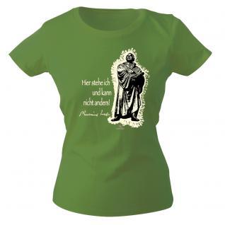 Girly-Shirt mit Print - Luther - G12623 - versch. farben zur Wahl - grün / M