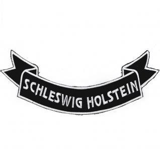 Rückenaufnäher Aufnäher - Schleswig Holstein- 07356/3 Gr. ca. 28 x 11 cm - Patches Stick Applikation