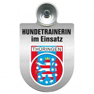 Einsatzschild mit Saugnapf Hundetrainerin im Einsatz 309379/1 Region Thüringen