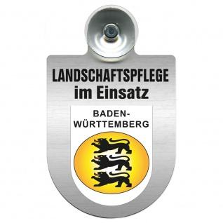 Einsatzschild mit Saugnapf Landschaftspflege im Einsatz 393823 Region Baden-Württemberg