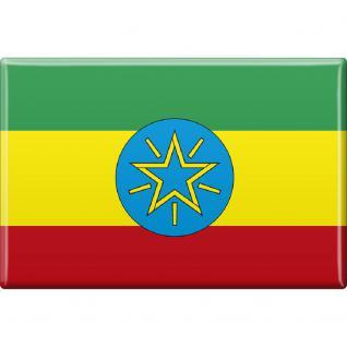 Küchenmagnet - Länderflagge Äthiopien - Gr. ca. 8x5, 5 cm - 38013 - Magnet