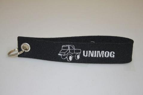 Filz-Schlüsselanhänger mit Stick - Unimog - Gr. ca. 17x3cm - 14182