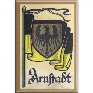 Küchenmagnet - Wappen Arnstadt - Gr. ca. 8 x 5, 5 cm - 37505 - Magnet Kühlschrankmagnet - Vorschau 1