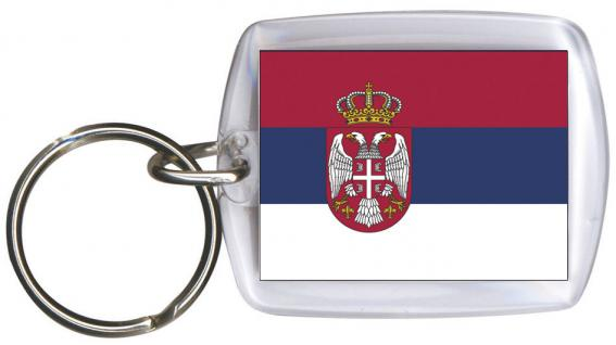 Schlüsselanhänger Anhänger - SERBIEN - Gr. ca. 4x5cm - 81146 - Keyholder WM Länder