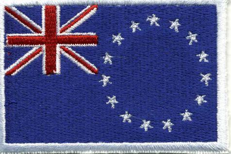 Aufnäher - Cook-Insel Fahne - 21585 - Gr. ca. 8 x 5 cm