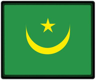 Mousepad Mauspad mit Motiv - Mauretanien Fahne Fußball Fußballschuhe - 82104 - Gr. ca. 24 x 20 cm