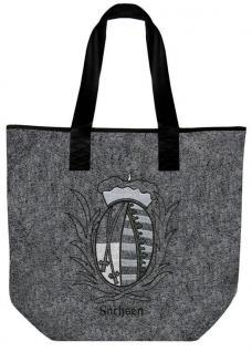 Filztasche mit Einstickung - WAPPEN SACHSEN - 26088 - Shopper Bag Umhängetasche