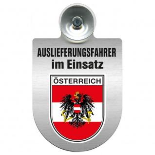 Einsatzschild Windschutzscheibe incl. Saugnapf - Auslieferungsfahrer im Einsatz - 309365 Region Österreich