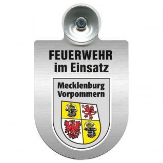 Einsatzschild Windschutzscheibe - Feuerwehr - incl. Regionen nach Wahl - 309355 Mecklenburg-Vorpommern