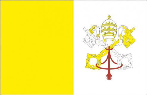 Länder-Fahne - Vatikanstadt - Gr. ca. 40x30cm - 77183 - Hissflagge, Schwenkfahne mit Holzstock, Stockländerfahne