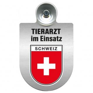Einsatzschild Windschutzscheibe incl. Saugnapf - Tierarzt im Einsatz - 309390 Region Schweiz