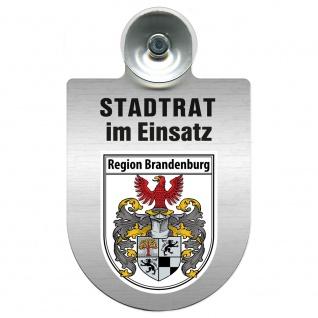 Einsatzschild Windschutzscheibe incl. Saugnapf - Stadtrat im Einsatz - 309394 Region Brandenburg