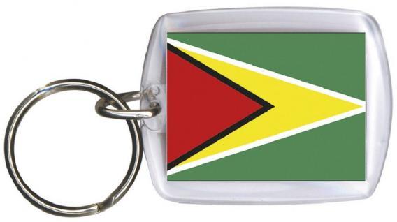 Schlüsselanhänger Anhänger - GUYANA - Gr. ca. 4x5cm - 81061 - WM-Länder