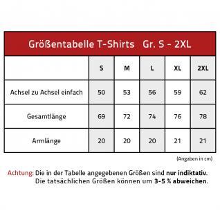 T-Shirt mit Print - No School, no Job.... - 10612 - rot - Gr. S-XXL - Vorschau 2