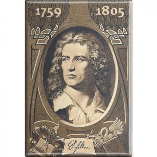 Magnet - FRIEDRICH SCHILLER - Gr. ca. 8 x 5, 5 cm - 38373 - Küchenmagnet