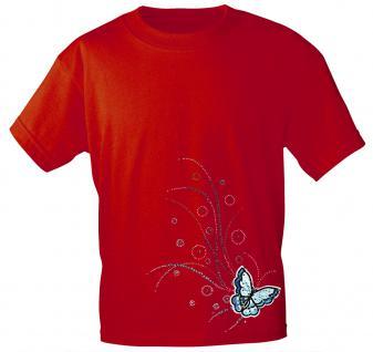 (12854) T- Shirt mit Glitzersteinen Gr. S - XXL in 17 Farben rot / M