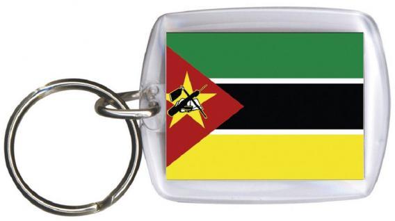 Schlüsselanhänger Anhänger - MOSAMBIK - Gr. ca. 4x5cm - 81113 - WM Länder Keyholder