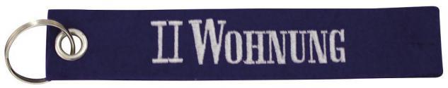 Filz-Schlüsselanhänger mit Stick II WOHNUNG Gr. ca. 17x3cm 14108 Keyholder blau