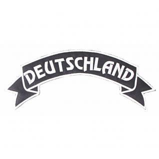 Rückenaufnäher - Deutschland - 08516 - Gr. ca. 28 x 7 cm - Patches Stick Applikation