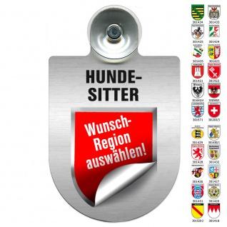 Einsatzschild Windschutzscheibe incl. Saugnapf - HUNDESITTER - 309797
