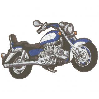 Rückenaufnäher - Bike chopper - 08029 blau - Gr. ca. 30 x 20 cm - Patches Stick Applikation