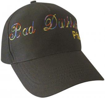 BaseCap - Cappy mit Bestickung - Bad Dürkheim - 68878 schwarz - Baumwollcap Cap Baseballcap Schirmmütze