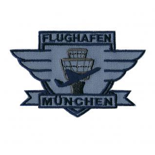 AUFNÄHER - München Flughafen - 00328 - Gr. ca. 10 x 6 cm - Patches Stick Applikation