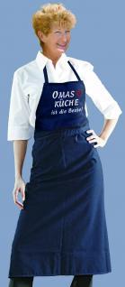 Grillschürze mit Einstickung Omas Küche ist die Beste 12535 dunkelblau
