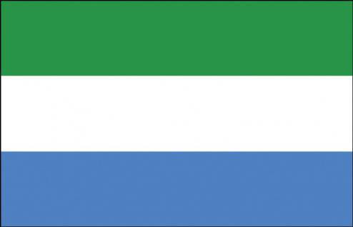 Stockländerfahne - Sierra Leone - Gr. ca. 40x30cm - 77148 - Flagge, Fahne, Schwenkfahne