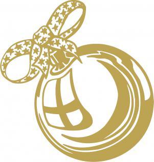 """Wandtattoo/ Dekorfolie mit Motiv """" Weihnachtskugel"""" Ø 90cm Länge max.100 cm, in 11 Farben WD0803 gold"""