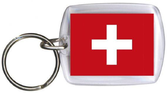 Schlüsselanhänger Anhänger - SCHWEIZ - Gr. ca. 4x5cm - 81144 - Keyholder WM Länder