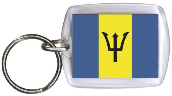 Schlüsselanhänger - BARBADOS - Gr. ca. 4x5cm - 81022 - WM Länder Anhänger