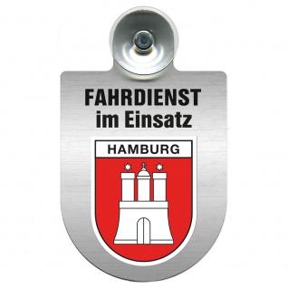 Einsatzschild Windschutzscheibe incl. Saugnapf - Fahrdienst im Einsatz - 309458 Region Hamburg