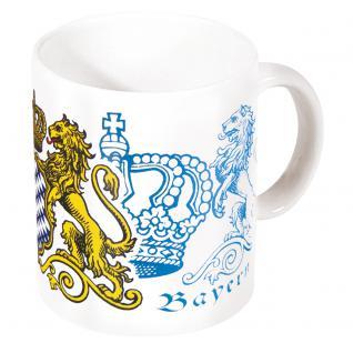 Tasse mit Print Munich München Königreich Bayern weiß 57013