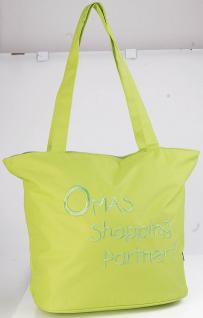 Umhängetasche - Oma - apfelgrün - 08975 - Bag Shopper