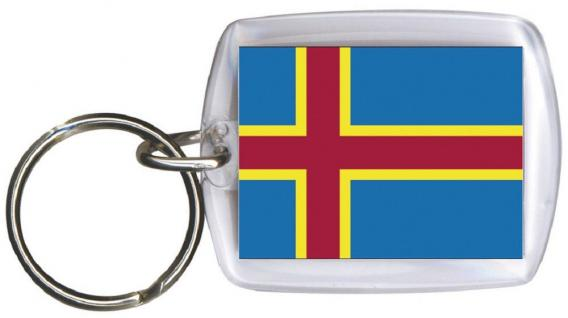 Schlüsselanhänger - ALAND ISLAND - Gr. ca. 4x5 cm - 81007 - WM Länder