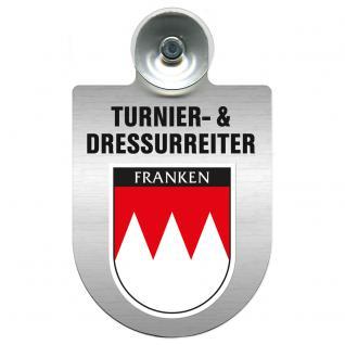 Einsatzschild Windschutzscheibe incl. Saugnapf - Turnier- und Dressurreiter im Einsatz - 309471-18 Region Franken
