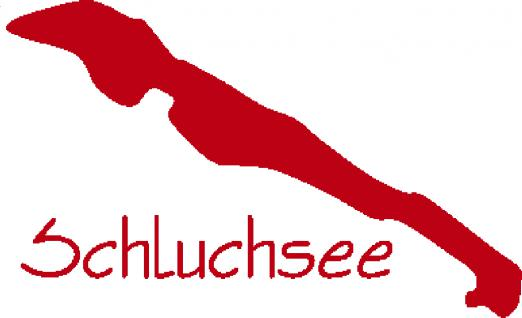 "PVC- Applikations- Aufkleber "" Schuchsee"" in 8 Farben, 25 cm groß AP2001 rot"