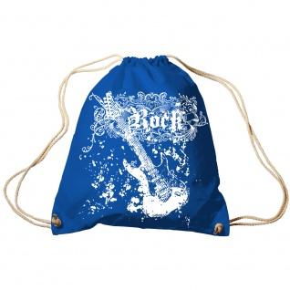 Trend-Bag Turnbeutel Sporttasche Rucksack mit Print - Rock Guitar - TB65303 Royal