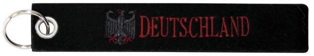 Filz-Schlüsselanhänger mit Stick DEUTSCHLAND Gr. ca. 17x3cm 14160 schwarz