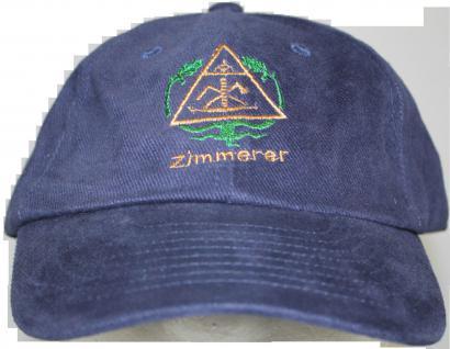 Baumwoll-Cap Base-Cap - Handwerker Zunft Beruf - ZIMMERER - 68628 denim - Baseballcap Cap Baumwollcap Cappy Kappe