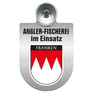 Einsatzschild Windschutzscheibe incl. Saugnapf - Angler-Fischerei im Einsatz - 309373-18 - Region Franken