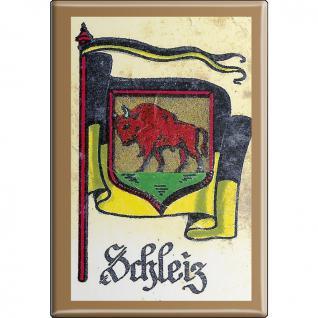 Küchenmagnet - Wappen Schleiz - Gr. ca. 8 x 5, 5 cm - 37547 - Magnet Kühlschrankmagnet