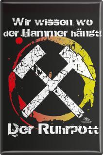 Küchenmagnet - Der Ruhrpott - Gr. ca. 8 x 5, 5 cm - 38246 - Magnet Kühlschrankmagnet