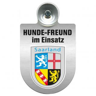Einsatzschild Windschutzscheibe incl. Saugnapf - Hundefreund im Einsatz - 309383 Region Saarland