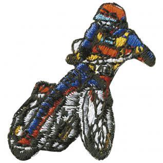 "Signet Patches Stick Applikation Emblem Abzeichen Aufbügler Aufnäher "" Motorcross 1"" NEU Gr. ca. 2, 5cm x 3, 5cm (02004) Bike Motorrad Sport Ralley"