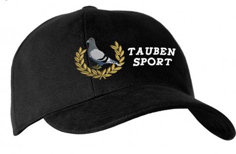 Baseballcap mit Einstickung - Taubensport Champion Taube - TB657 schwarz
