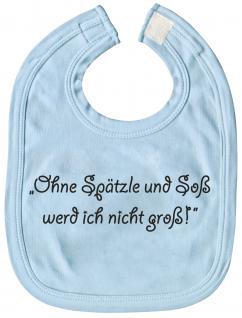 Baby-Lätzchen - Ohne Spätzle und Soß... - 08475 - blau